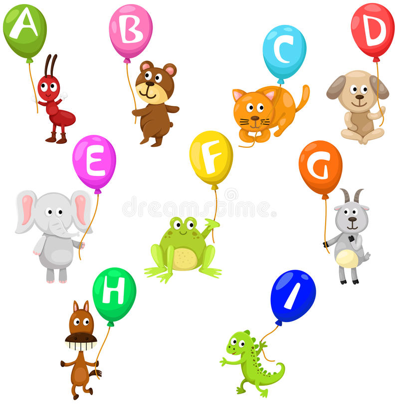 Alfabeto de los animales ilustración del vector