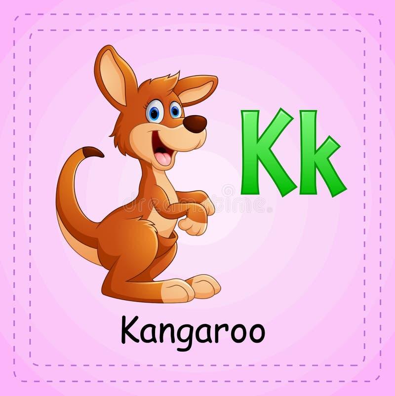 Alfabeto de los animales: K está para el canguro stock de ilustración