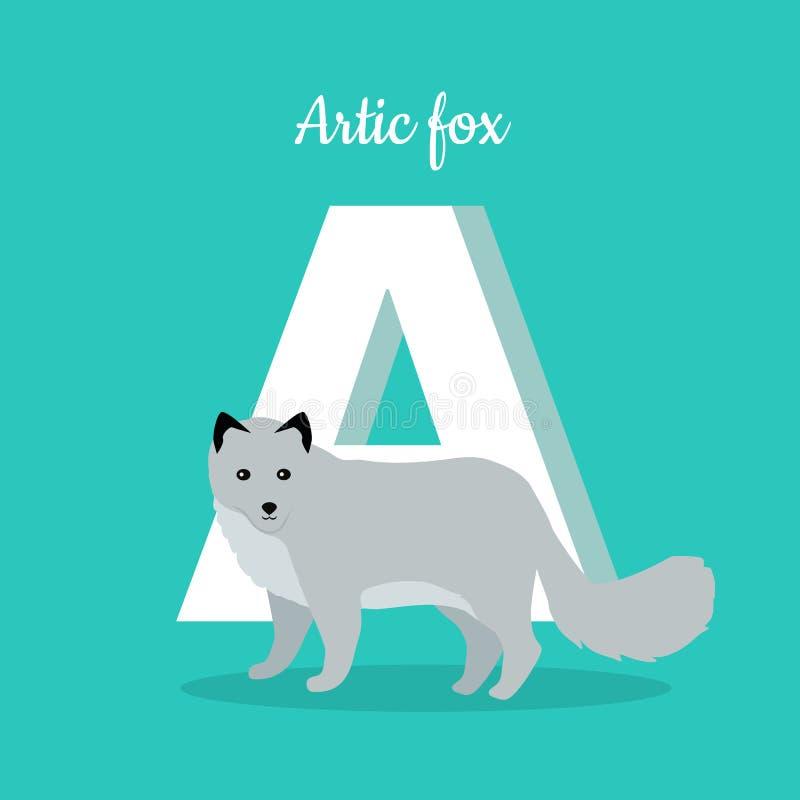 Alfabeto de los animales Letra - A libre illustration