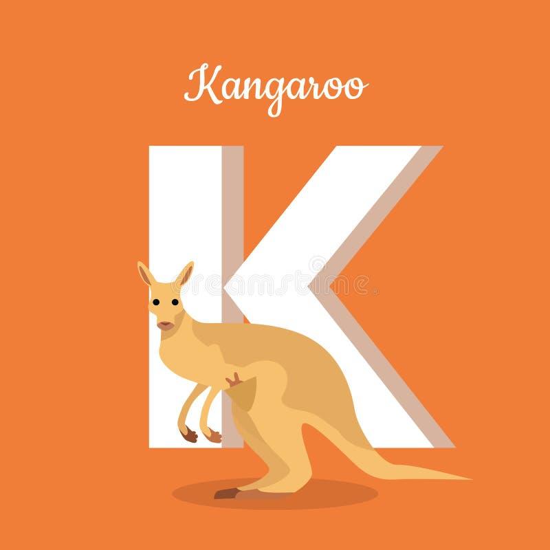 Alfabeto de los animales Letra - K stock de ilustración