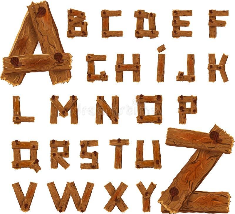 Alfabeto de madera libre illustration