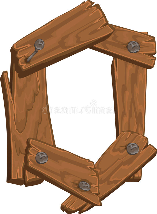 Alfabeto de madera - letra O en el fondo blanco stock de ilustración