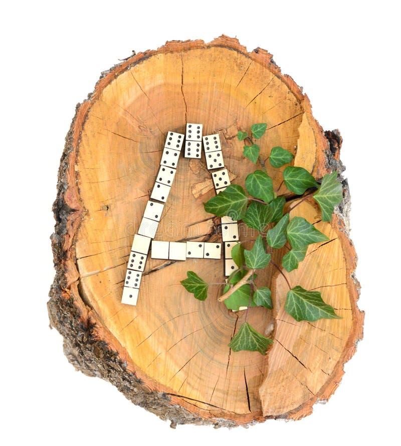 Alfabeto de madera rústico imágenes de archivo libres de regalías
