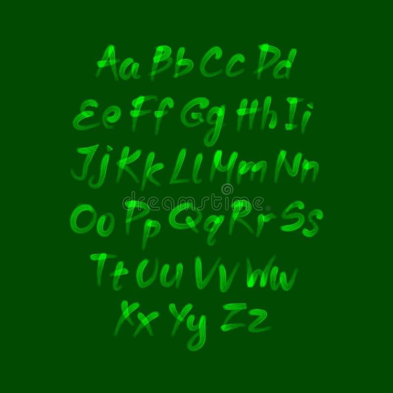 Alfabeto de moda del dibujo de la mano, ejemplo del vector libre illustration