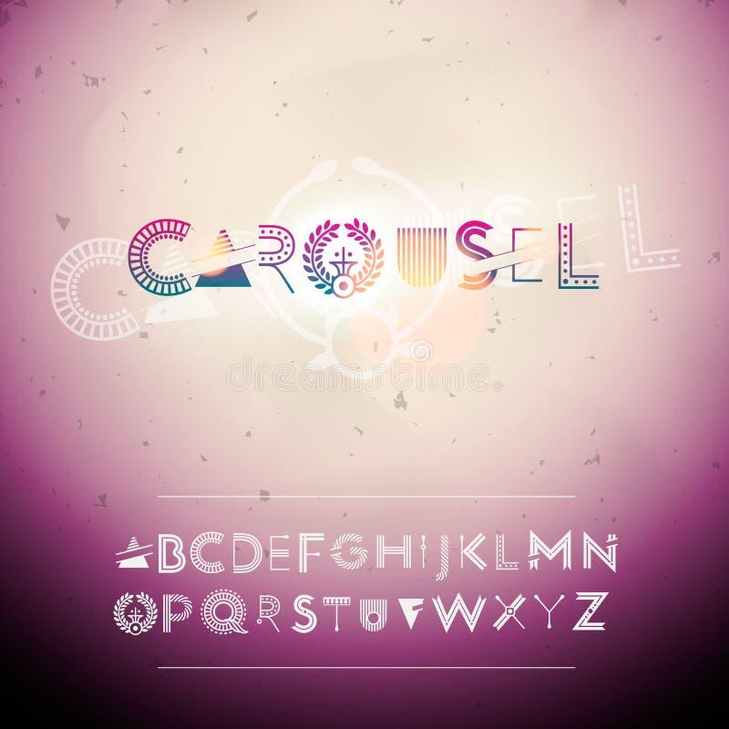 Alfabeto de Swirly stock de ilustración