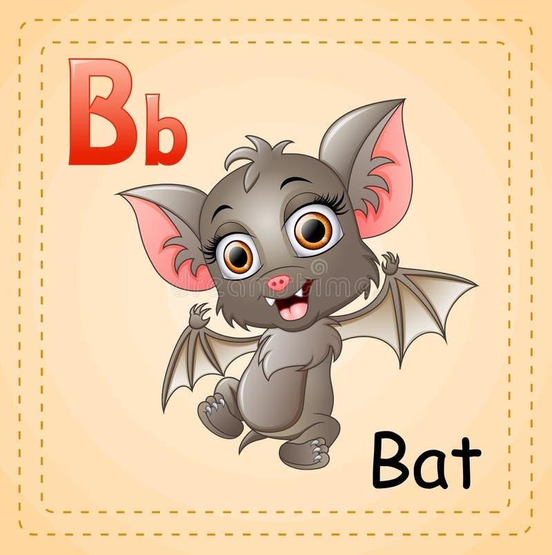 Alfabeto degli animali: La B è per i pipistrelli illustrazione vettoriale
