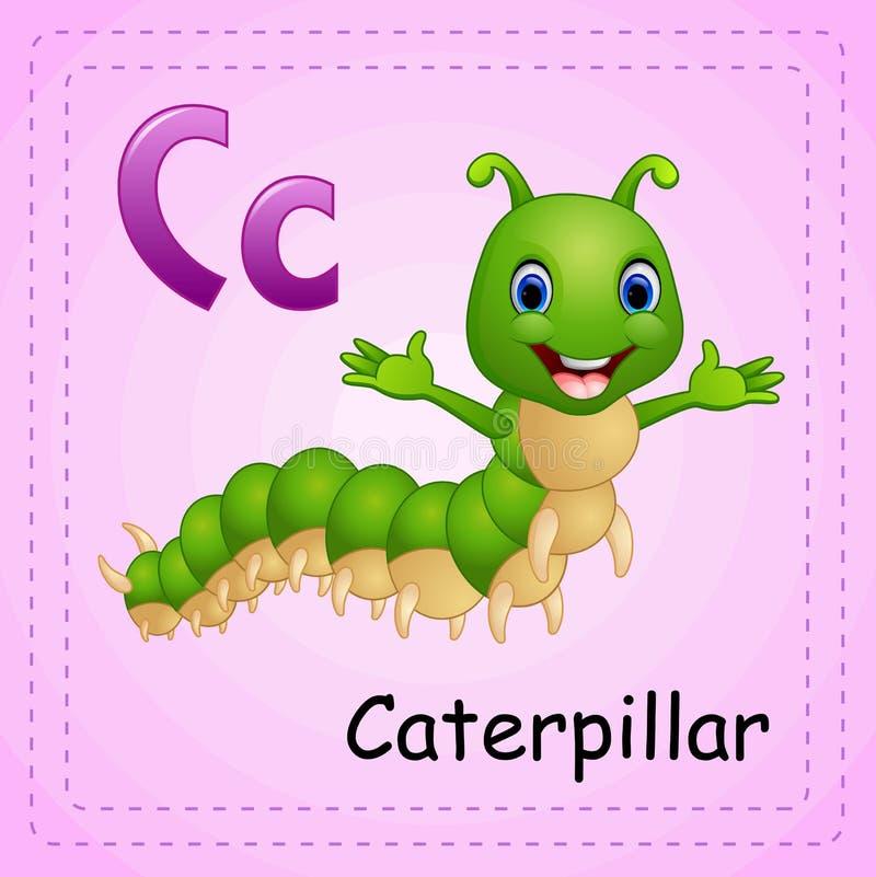 Alfabeto degli animali: La C è per Caterpillar illustrazione vettoriale