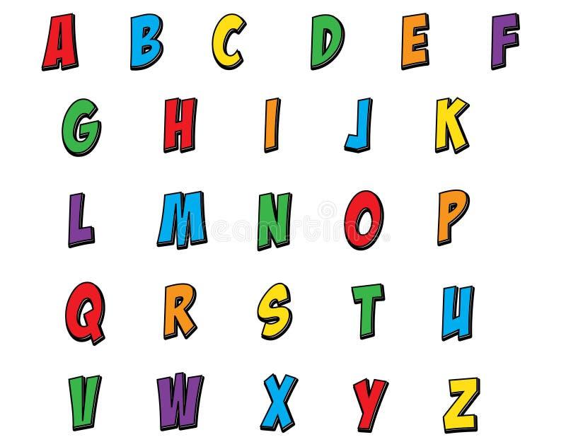 Alfabeto dei bambini royalty illustrazione gratis