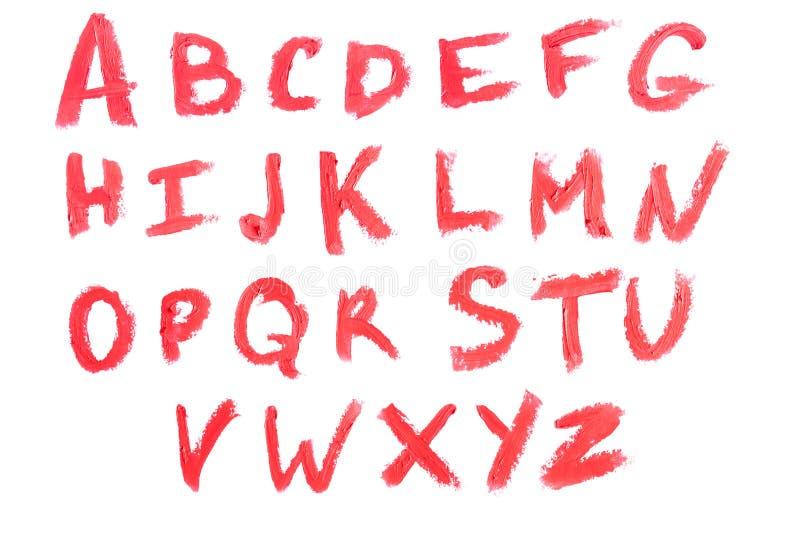 Alfabeto dei cosmetici immagini stock libere da diritti