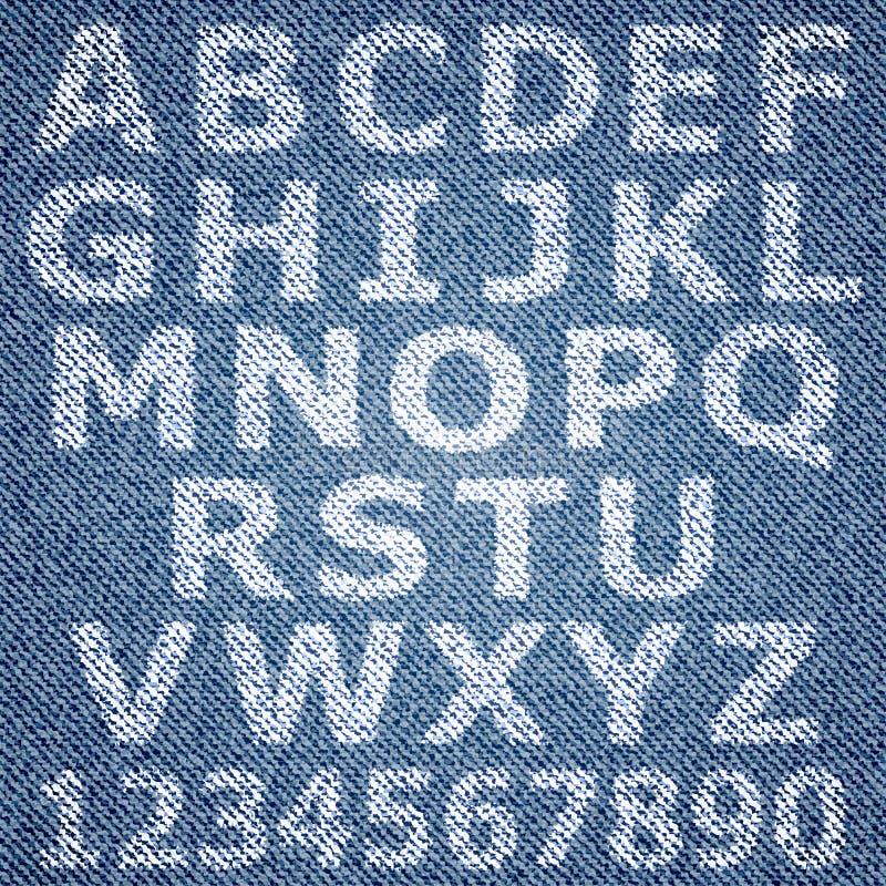 Alfabeto dei jeans illustrazione vettoriale