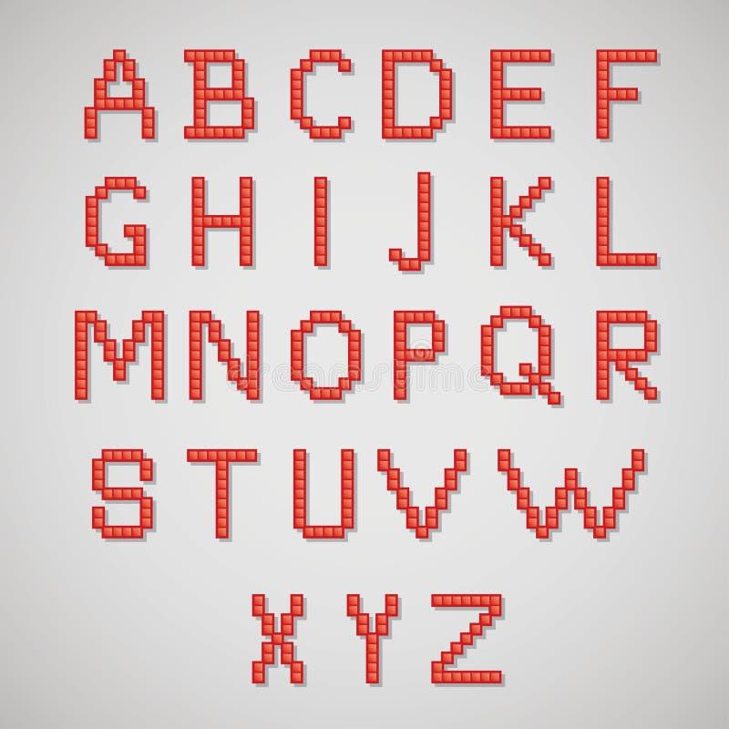 Alfabeto del arte del pixel libre illustration