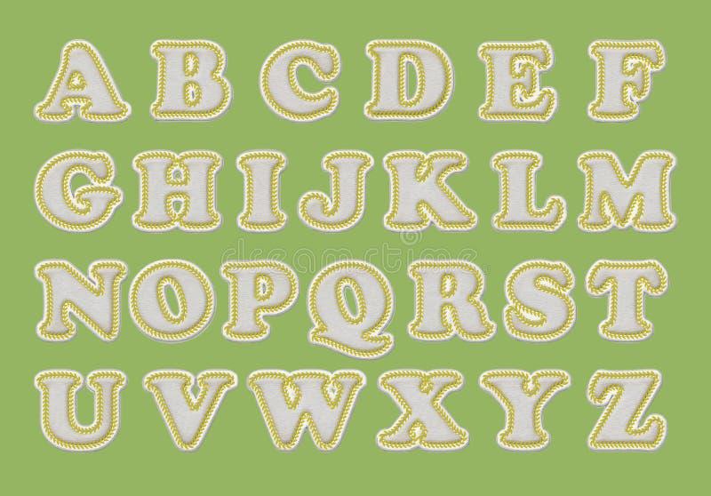Alfabeto del béisbol con las puntadas stock de ilustración