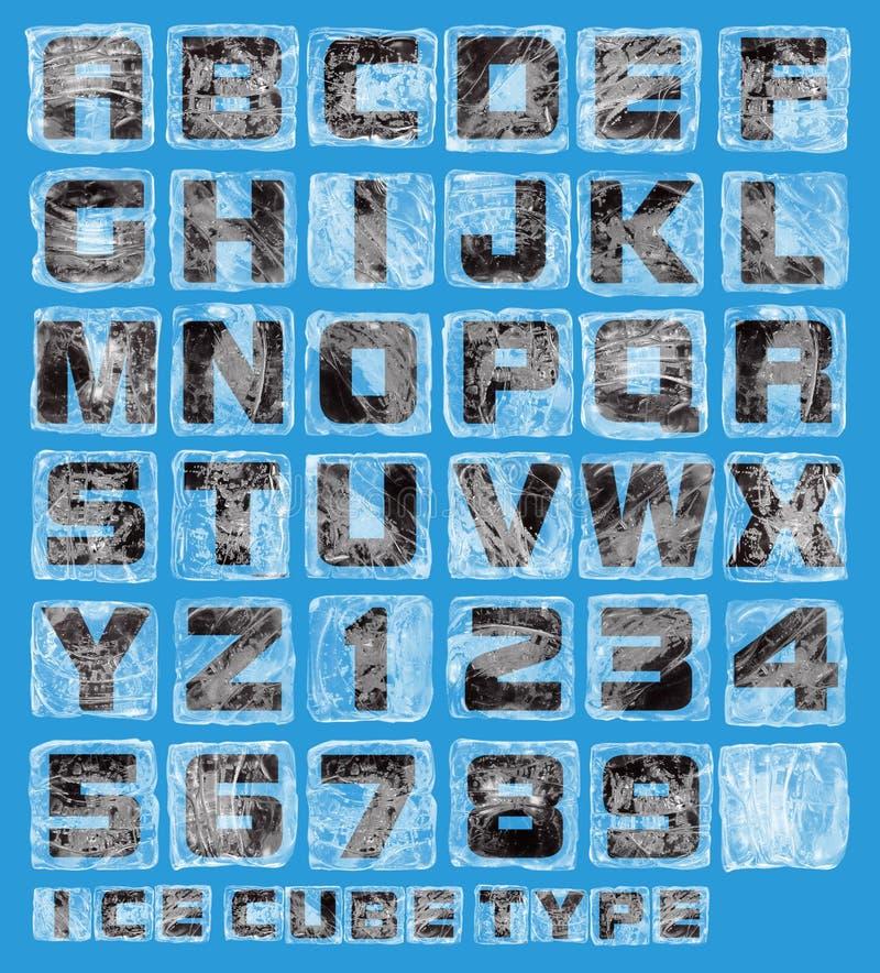 Alfabeto del cubo di ghiaccio illustrazione vettoriale
