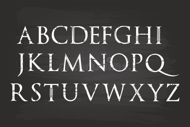 Alfabeto del cursivo libre illustration