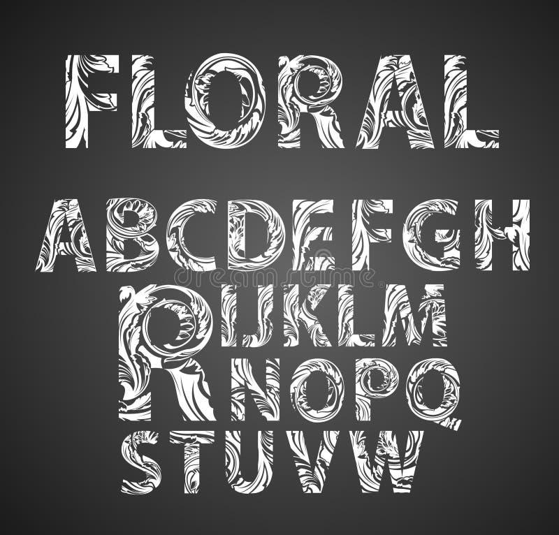 Alfabeto del dibujo de la mano, ejemplo del vector libre illustration