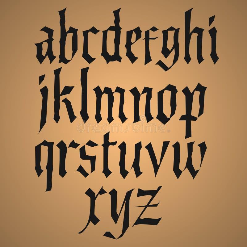 Alfabeto del dibujo de la mano, ejemplo del vector ilustración del vector