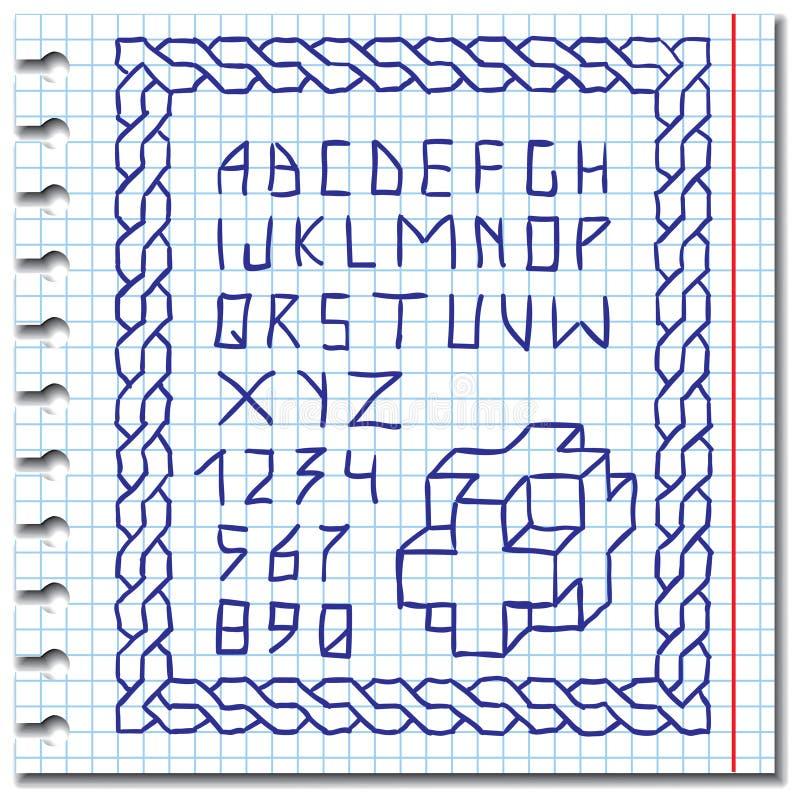 Download Alfabeto Del Gráfico De La Mano Ilustración del Vector - Ilustración de diseño, símbolo: 44854467