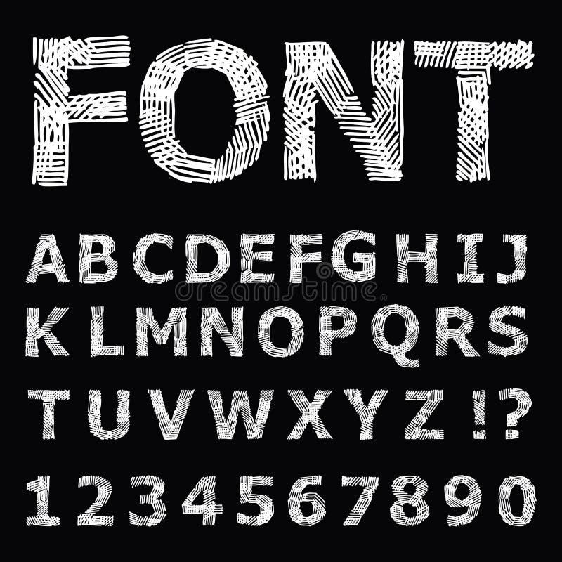 Alfabeto del Grunge. ilustración del vector
