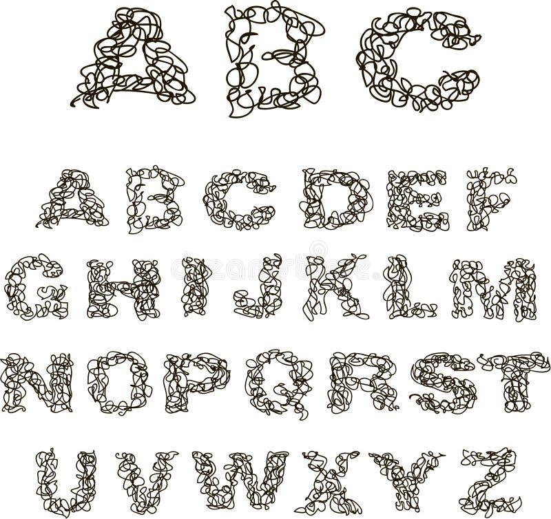 Alfabeto del hilo imagen de archivo