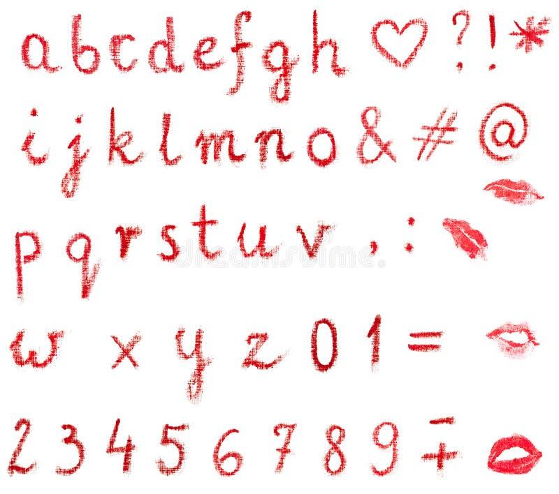 Alfabeto del lápiz labial imagen de archivo. Imagen de impresiones ...