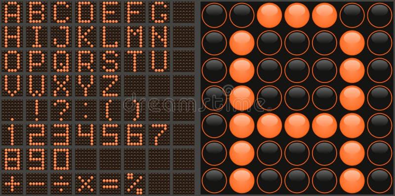 Alfabeto del LED immagine stock libera da diritti