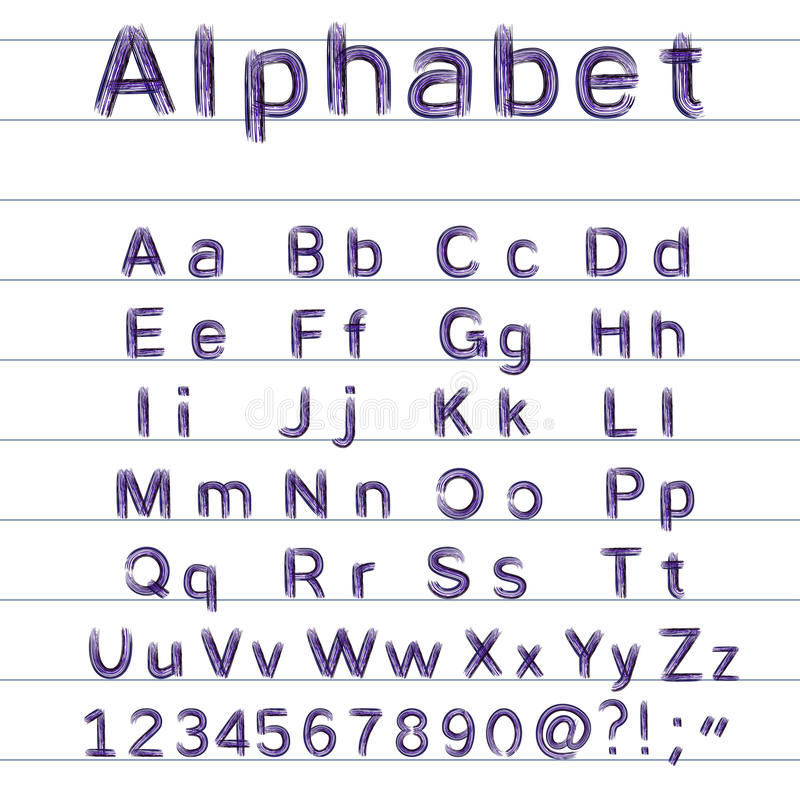alfabeto del Mano-dibujo - ejemplo del vector libre illustration