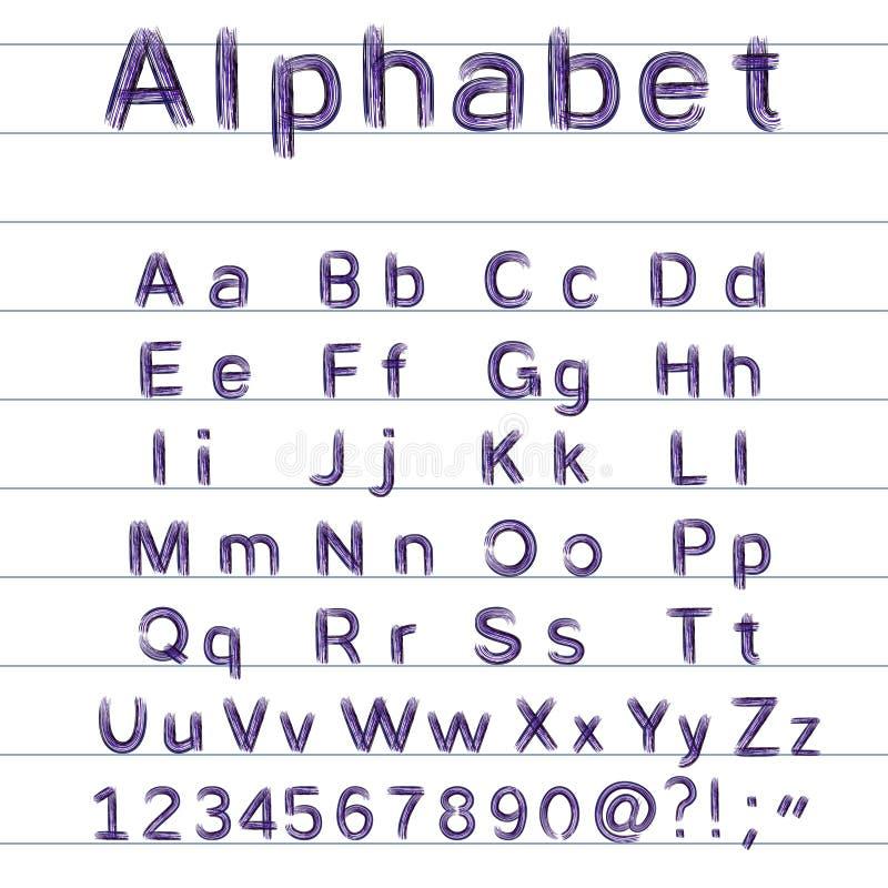 alfabeto del A mano disegno - illustrazione di vettore royalty illustrazione gratis