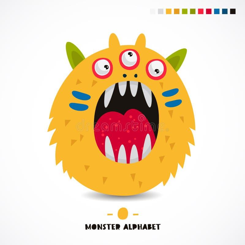 Alfabeto del monstruo La letra O libre illustration
