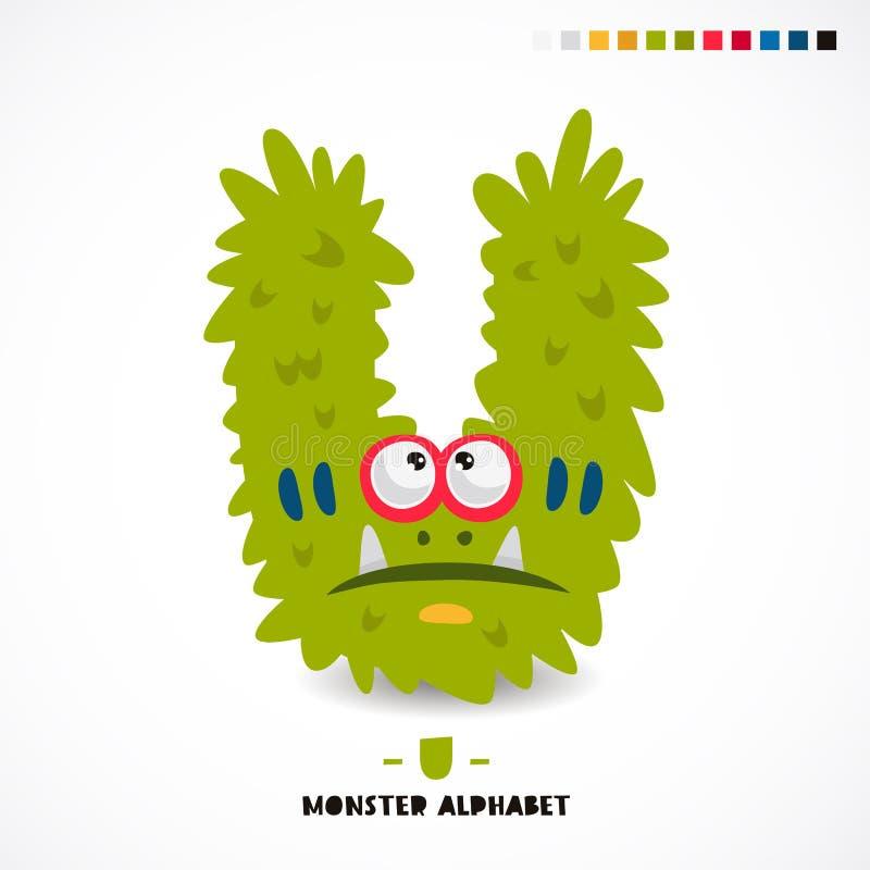 Alfabeto del monstruo Letra U libre illustration