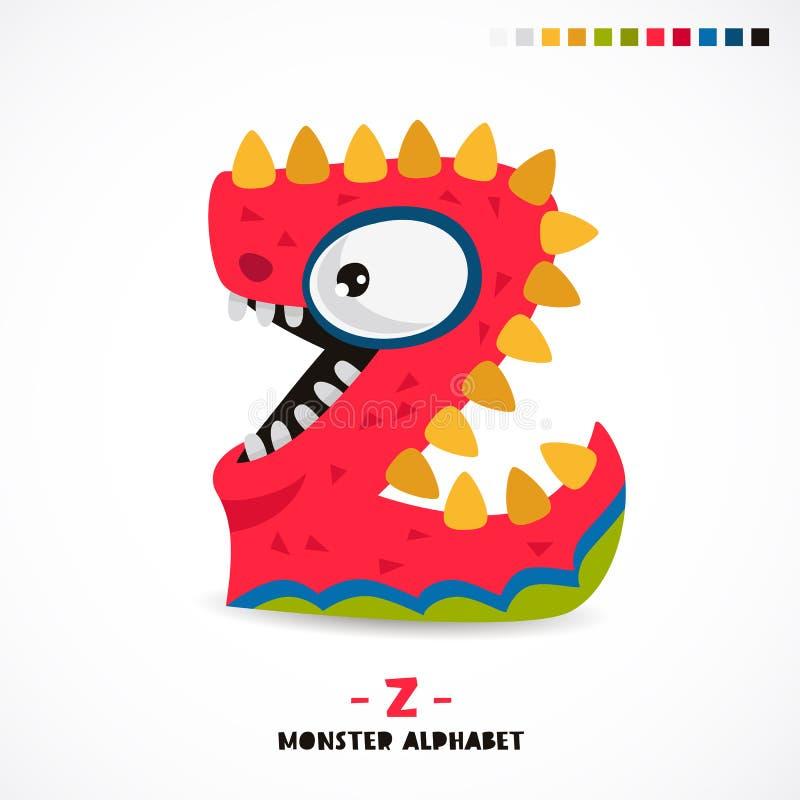 Alfabeto del monstruo Letra Z libre illustration