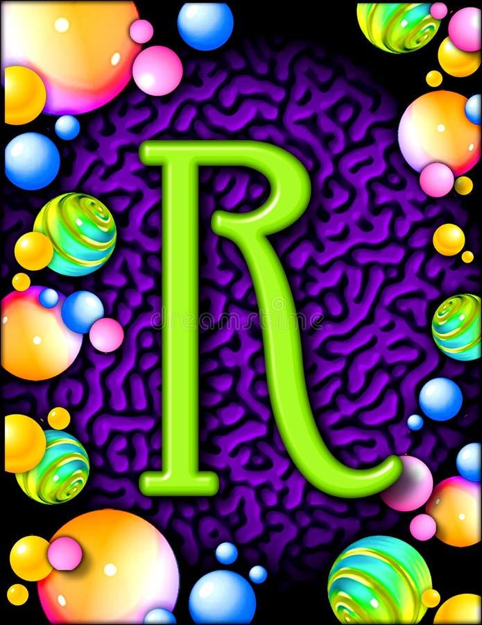 Alfabeto del partito - R fotografie stock libere da diritti