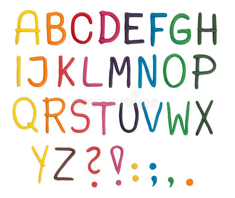 Alfabeto del Plasticine illustrazione vettoriale
