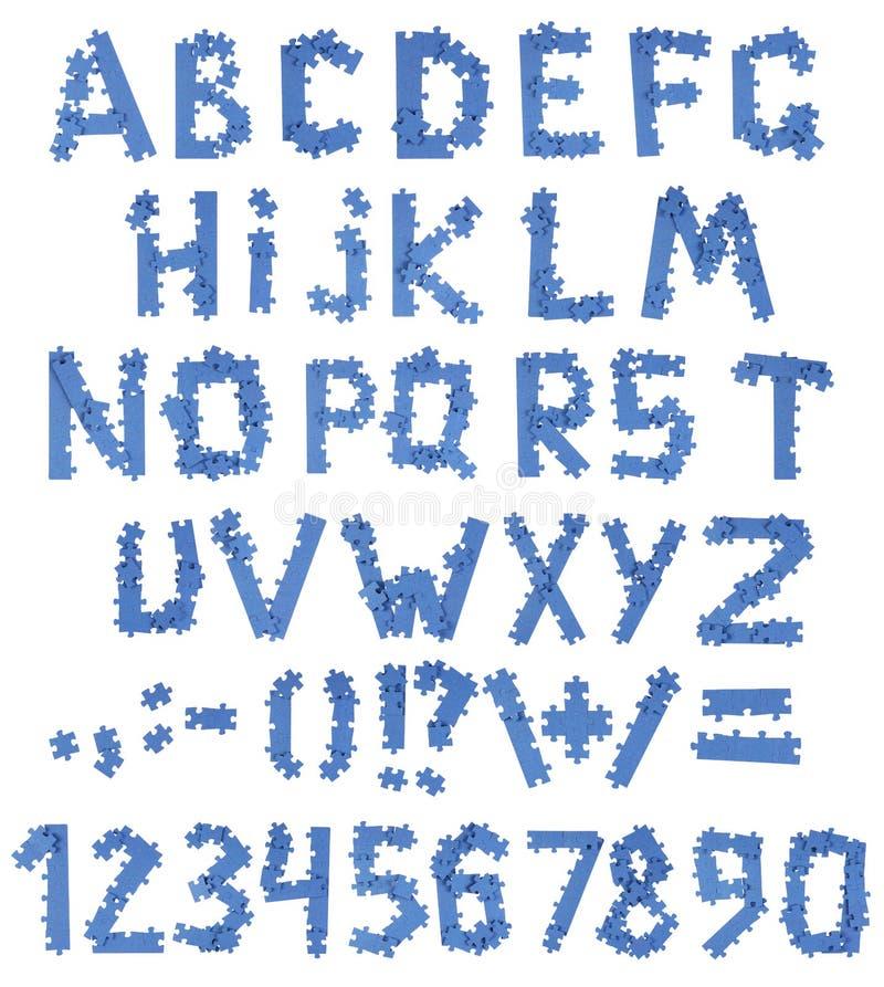 Alfabeto del rompecabezas imágenes de archivo libres de regalías