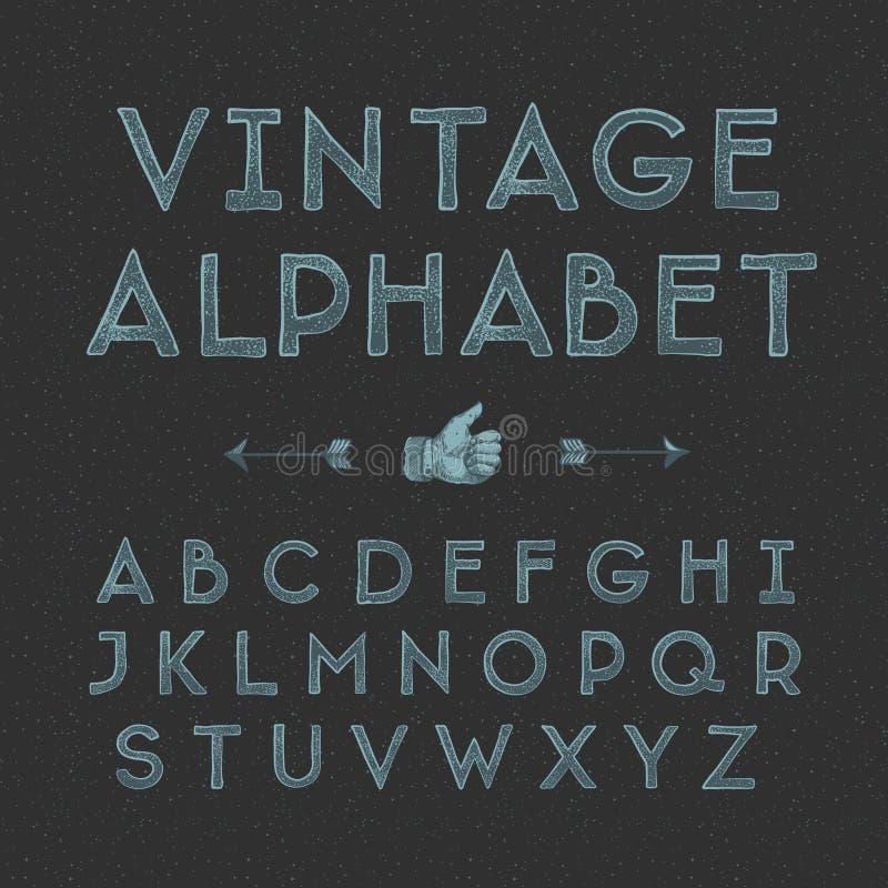 Alfabeto del vintage ilustración del vector