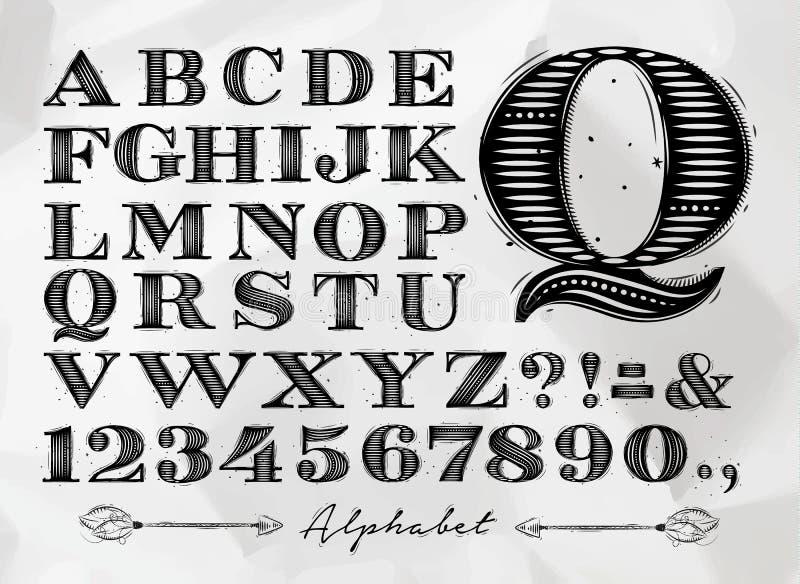 Alfabeto del vintage libre illustration