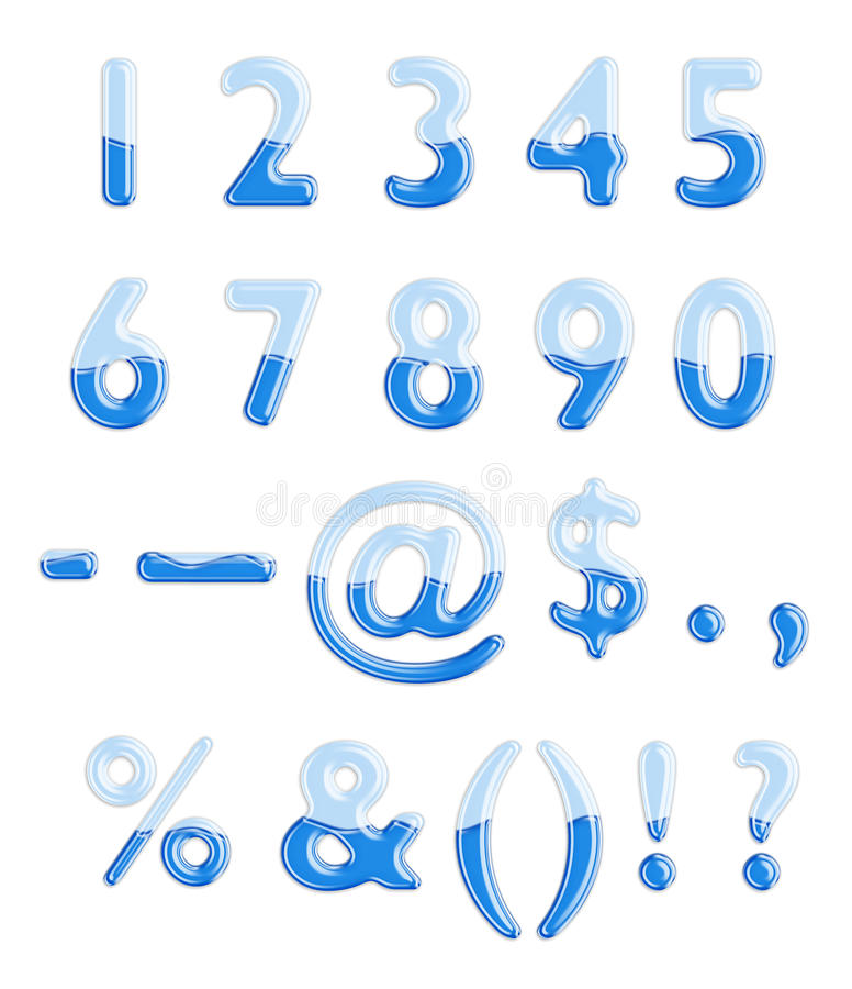 Alfabeto dell'acqua e di vetro immagini stock libere da diritti