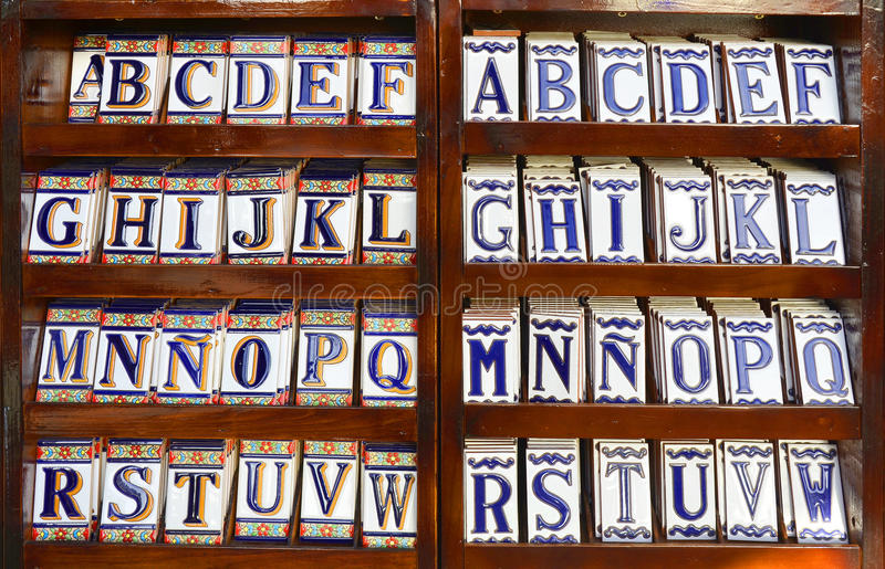 Alfabeto della piastrella di ceramica immagine stock libera da diritti