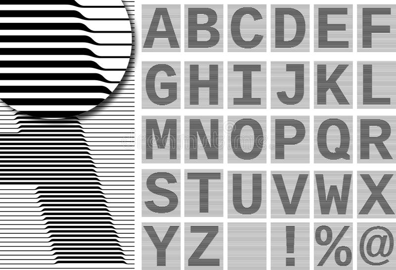 Alfabeto della rabescatura illustrazione di stock