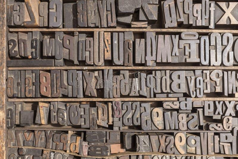Alfabeto dello scritto tipografico fotografia stock