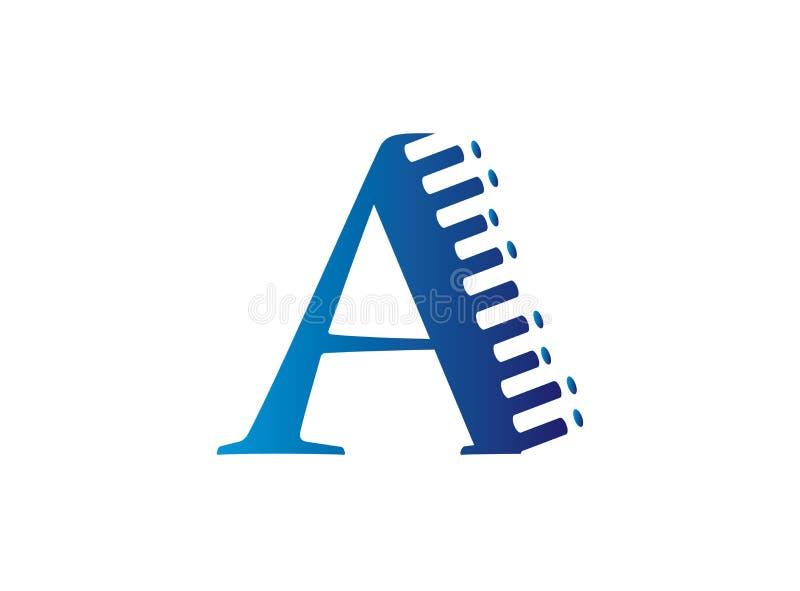 Alfabeto A dentro de un tri?ngulo en los colores multi para el ejemplo del dise?o del logotipo, un icono del efecto stock de ilustración