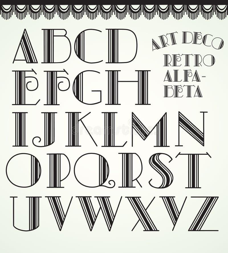 Alfabeto di art deco immagine stock