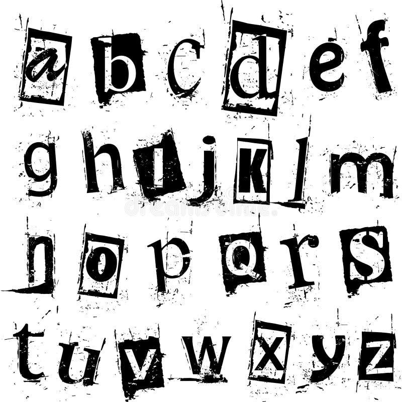 Alfabeto di Grunge royalty illustrazione gratis