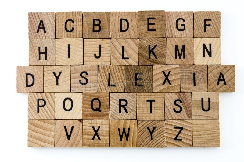Alfabeto di istruzione di difficoltà di dislessia immagini stock