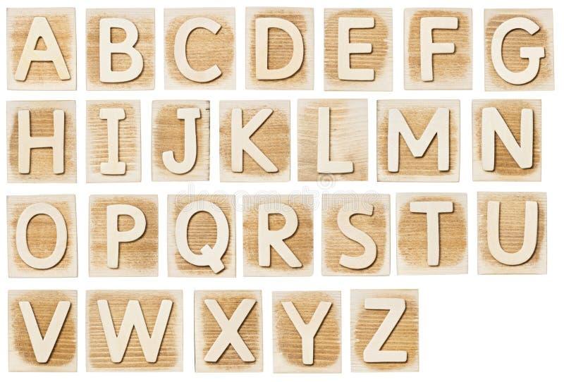Alfabeto di legno immagini stock libere da diritti
