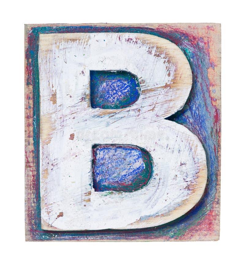 Alfabeto di legno fotografie stock