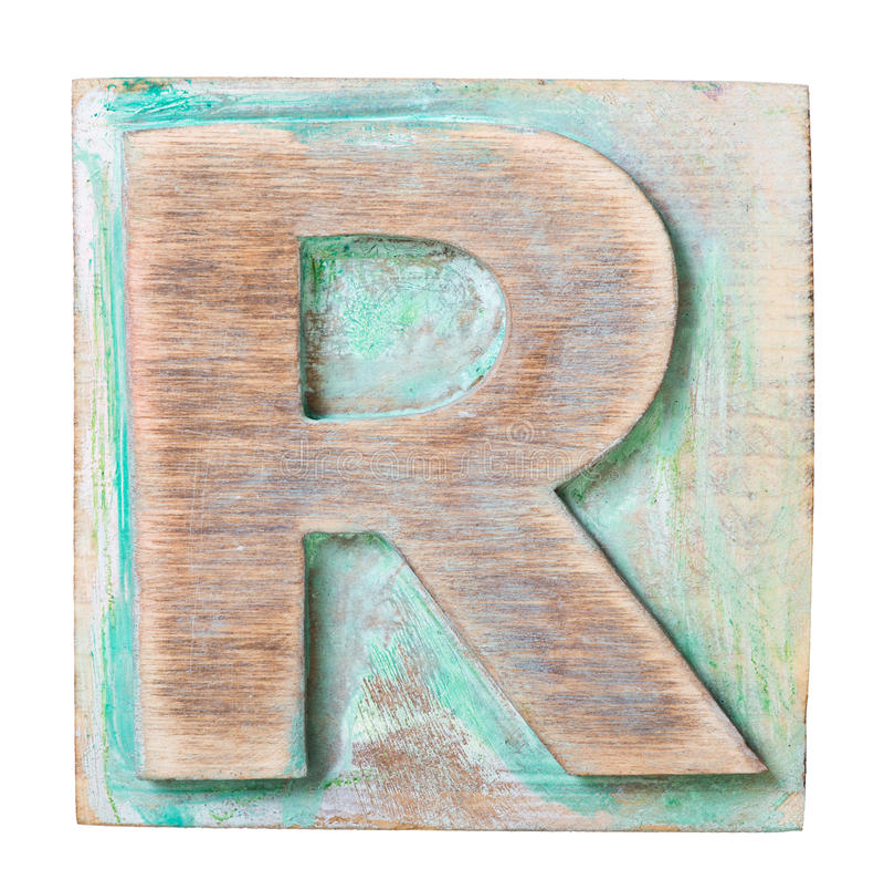 Alfabeto di legno immagine stock