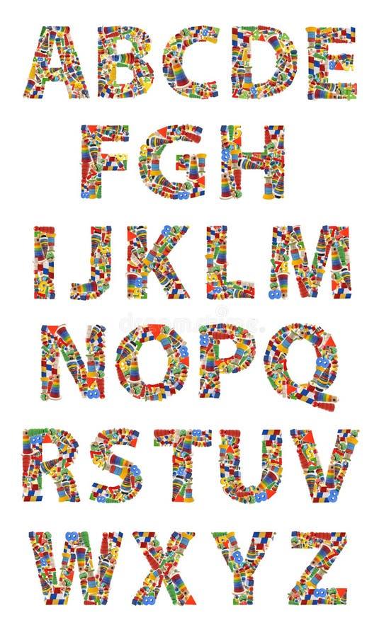 Alfabeto di legno dei giocattoli royalty illustrazione gratis