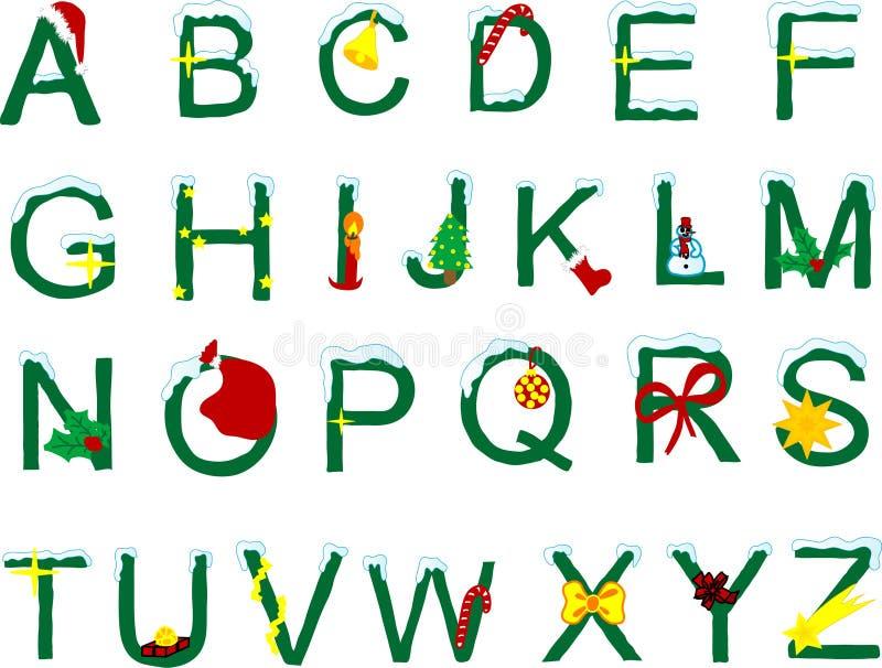 Alfabeto di natale illustrazione di stock