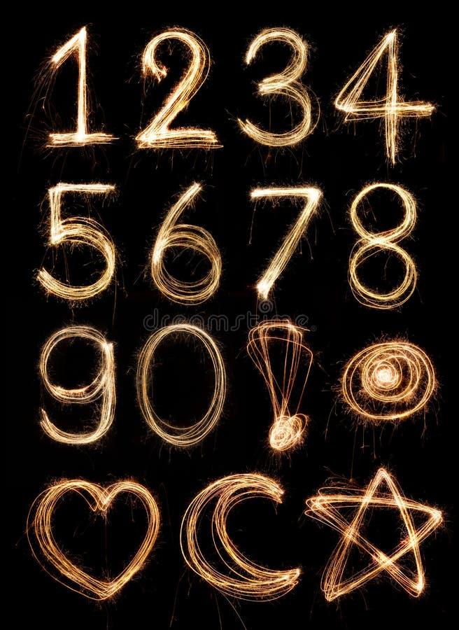 Alfabeto di numero fotografie stock