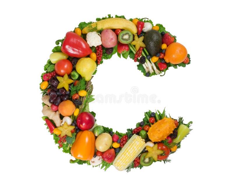 Alfabeto di salute - C immagine stock libera da diritti